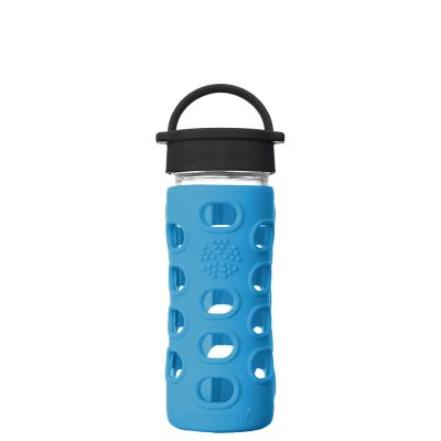 Cobalt Blue Glass Water Bottle 350ml