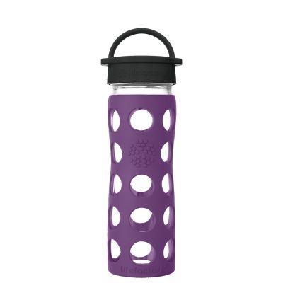 Plum Glass Water Bottle 475ml
