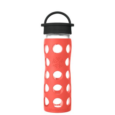 Poppy Glass Water Bottle 475ml