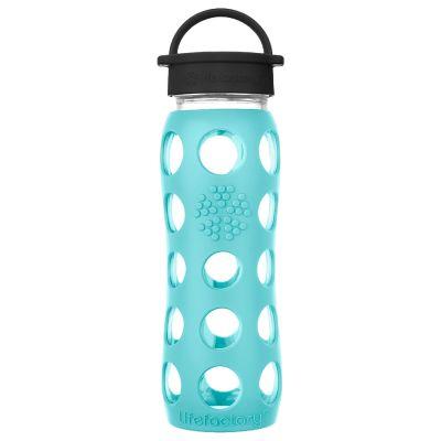 Sea Green Glass Water Bottle 650ml