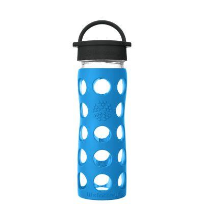 Teal Lake Glass Water Bottle 475ml