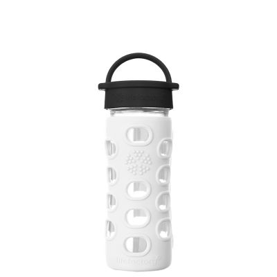 Arctic White Glass Water Bottle 350ml