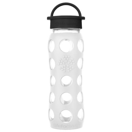 Arctic White Glass Water Bottle 650ml