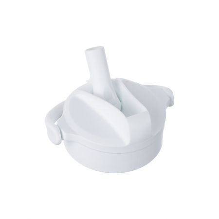 Water Bottle Pivot Straw Cap Arctic White