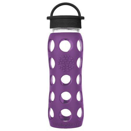 Plum Glass Water Bottle 650ml