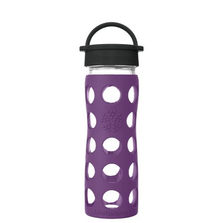 Plum Glass Water Bottle 475ml