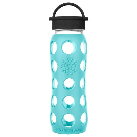 Sea Green Glass Water Bottle 650ml