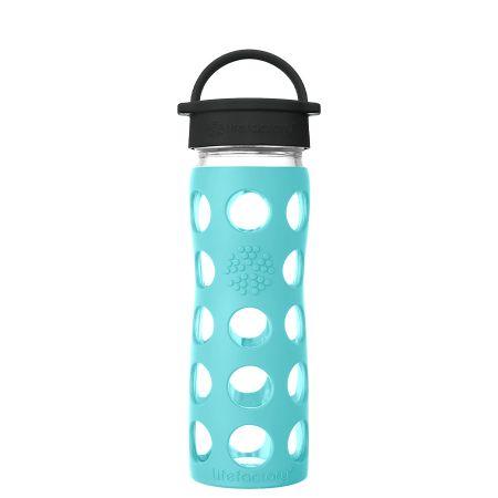 Sea Green Glass Water Bottle 475ml
