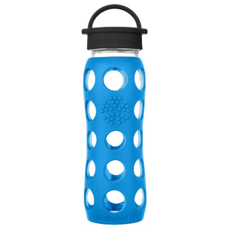 Teal Lake Glass Water Bottle 650ml