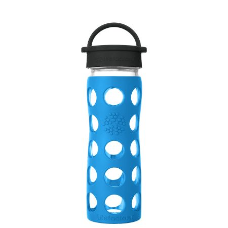 Teal Lake Glass Water Bottle 475ml